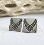 Silver Air Force Earrings