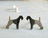 Airedale Terrier Rescue Stud Earrings
