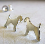 Airedale Terrier Dog Stud Earrings