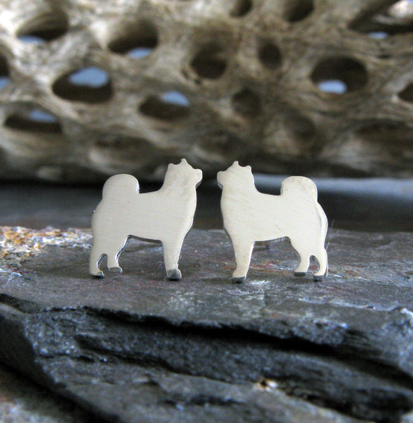Alaskan Malamute Dog Stud Earrings