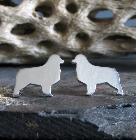 Australian Shepherd Dog Stud Earrings