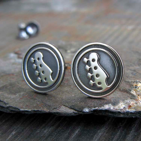 Bass Guitar Stud Earrings