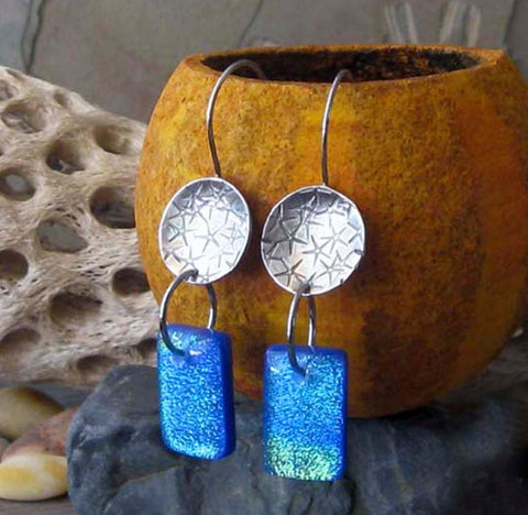 Starfish Fused Glass Earrings