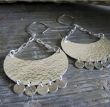 Boho Babe dangle earrings in sterling silver