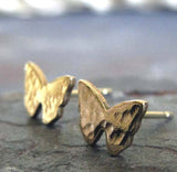 Butterfly Gold Textured Post Earrings