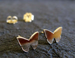Butterfly Gold Post Earrings