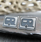 Camper Trailer Stud Earrings