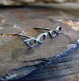 Cat Eye Retro Glasses Stud Earrings