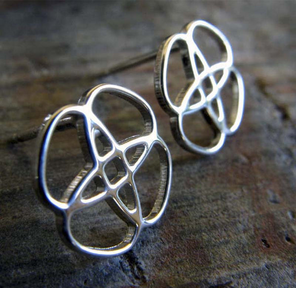 Celtic Knot Sterling Silver Stud Earrings