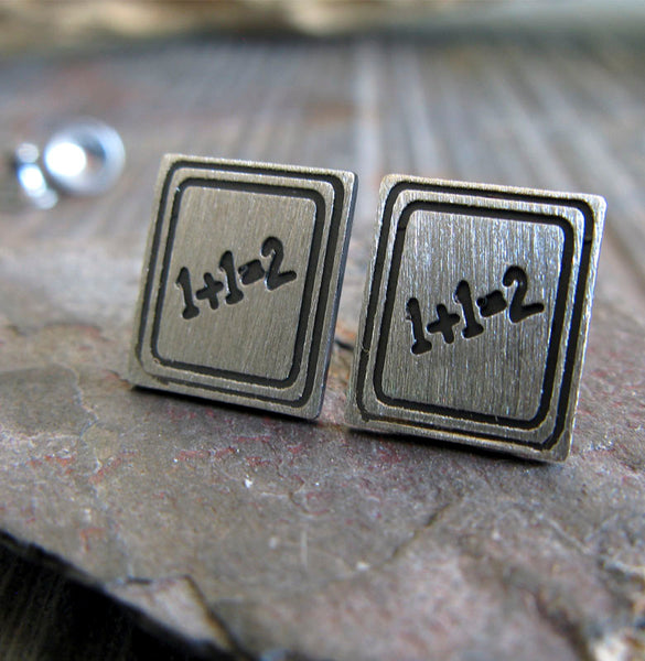Chalkboard Teacher Stud Earrings