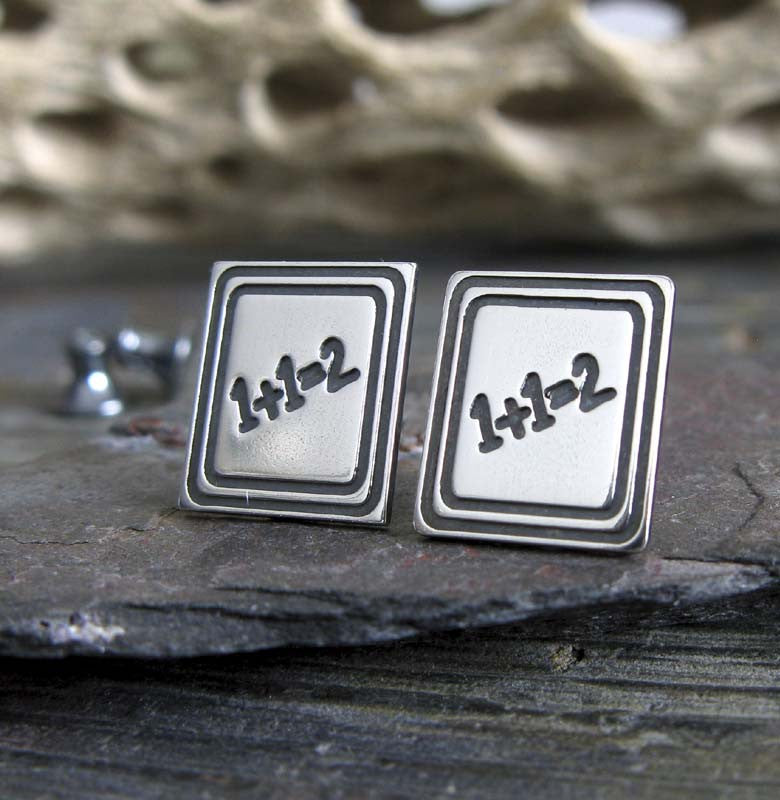 Teacher chalkboard sterling silver stud earrings. Handmade in the USA.
