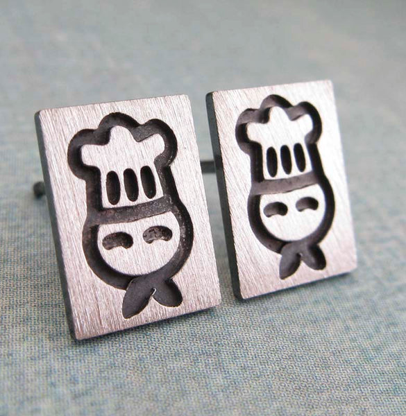 Chef Stud Earrings