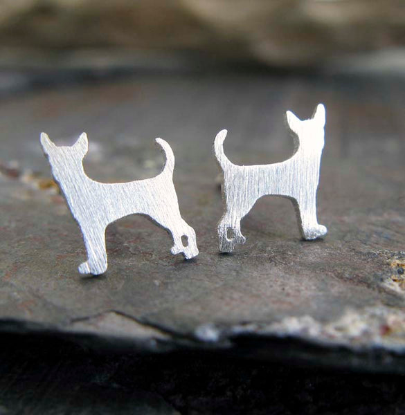 Chihuahua Dog Stud Earrings