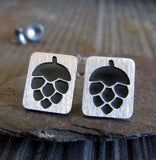 Craft Beer Hops Stud Earrings