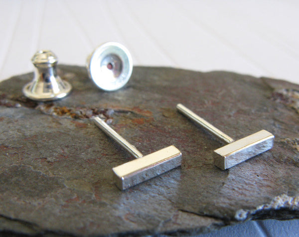 Sterling Silver Little Dash Stud Earrings