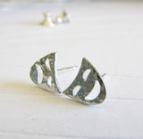 Drama Comedy Tragedy Masks Sterling Silver or 14k Gold Stud Earrings Handmade