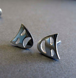 Comedy & Tragedy Mask Stud Earrings