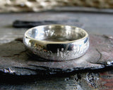 Engraved Sterling Silver Wedding Band