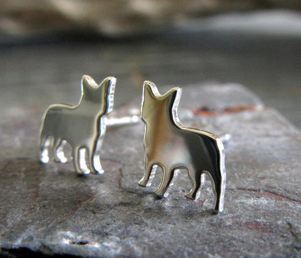Frenchie Dog Stud Earrings