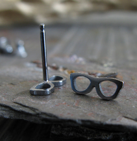 Glasses Stud Earrings
