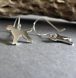 Goldendoodle Dog Dangle Earrings