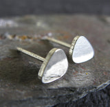 Small Guitar Pick Stud Earrings