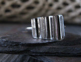 Unique Half Pipe Sterling Silver Polished Ring