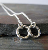 Infinity Twist danity handmade necklace sterling silver
