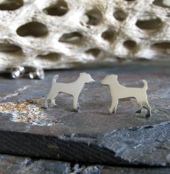 Jack Russell Terrier Dog Stud Earrings