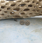 Libra zodiac sign sterling silver stud earrings