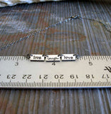 Live Laugh Love dainty handmade necklace sterling silver