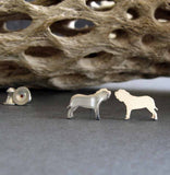 Neapolitan Mastiff Dog Stud Earrings