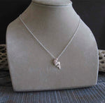 Mermaid pendant necklace handmade in sterling silver