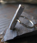 Modern Bar Ring in Sterling Silver
