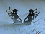 Mystical Fairy Sterling Silver Stud Earrings
