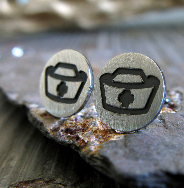 Nurse Hat Stud Earrings