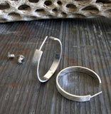 Medium Open Hoop Stud Earrings
