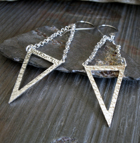 Open Triangle Dangle Earrings