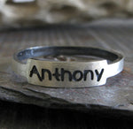 Personalized Posie Ring in sterling silver