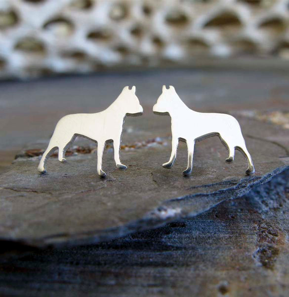 Pitbull Dog Stud Earrings