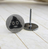 Poop Emoji Stud Earrings