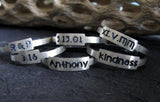 Personalized Posey Rings in Sterling Silver