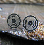 Record Player Stud Earrings
