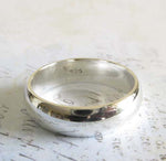 Sterling Silver Wedding Band 5.5mm Polished Ring