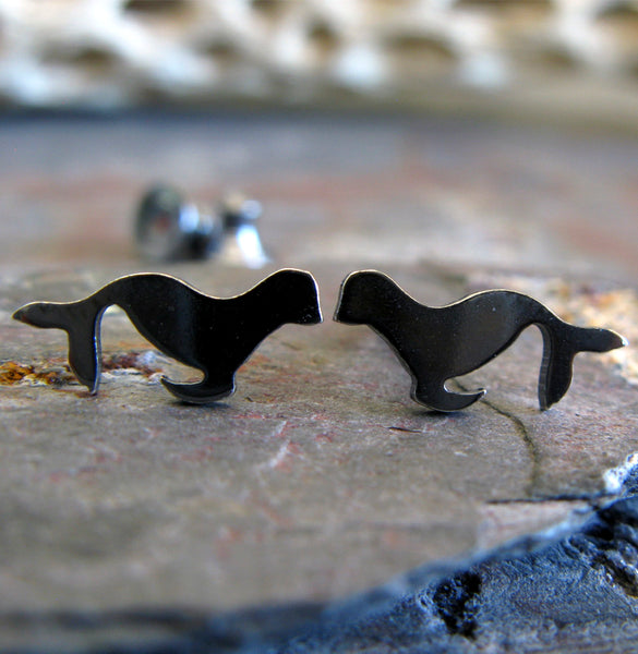 Sea Lion Stud Earrings