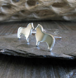 Shetland Sheepdog Sheltie Dog Stud Earrings