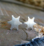 Sheriff Badge Stud Earrings