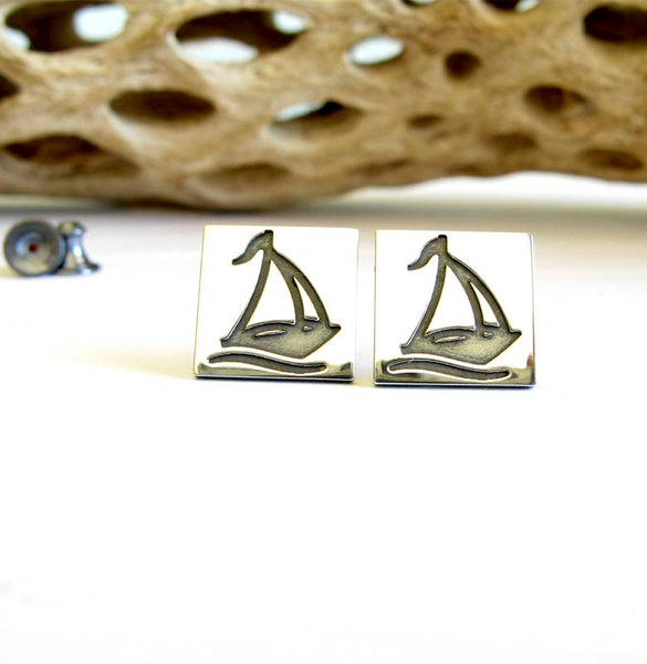 Sail Boat Stud Earrings