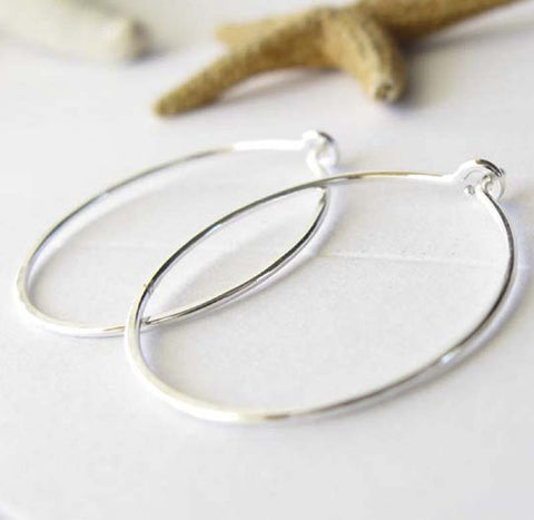Small Sterling Silver Handmade Hoop Earrings