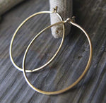 Small Thin Gold Hoop Earrings
